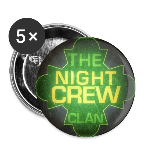 Night Crew Coffee Mug - Buttons large 2.2'' (5-pack)