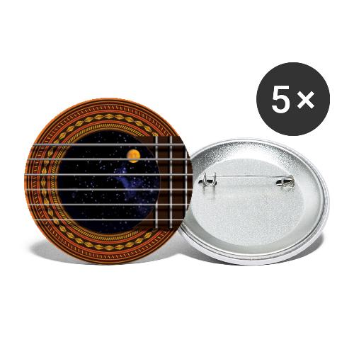 Cool Guitar Soundhole - Buttons large 2.2'' (5-pack)