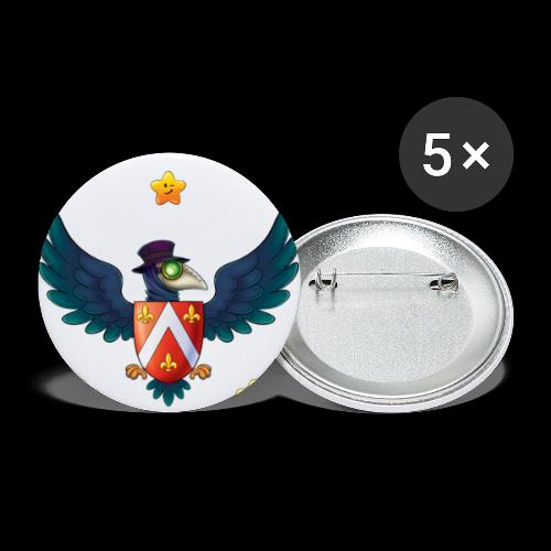 YOUR BABY PIRATE'S FIRST COAT OF ARMS! - Buttons large 2.2'' (5-pack)