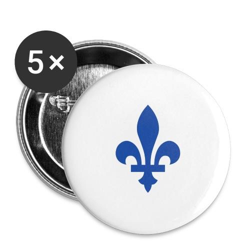 2000px Blue fleur de lis2 png - Buttons large 2.2'' (5-pack)