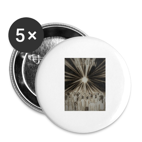 Black_and_White_Vision2 - Buttons large 2.2'' (5-pack)