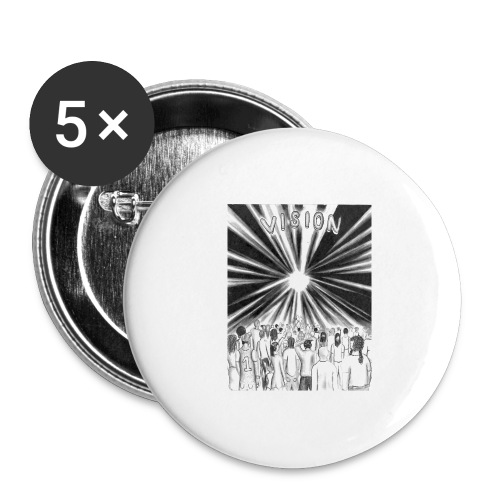 Black_and_White_Vision - Buttons large 2.2'' (5-pack)
