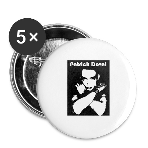 Patrick Doval Logo - Buttons large 2.2'' (5-pack)