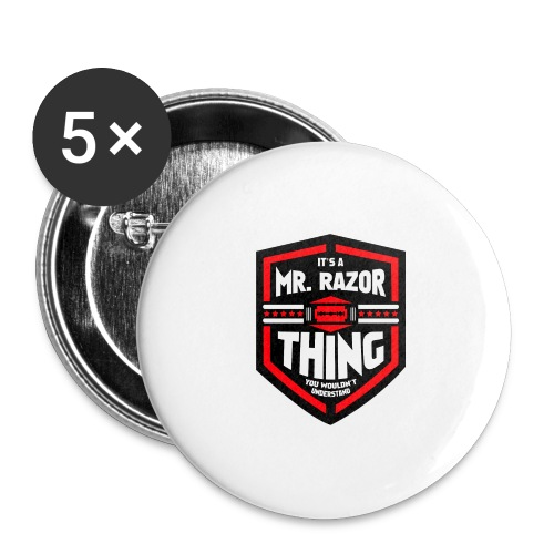 It's a Mr Razor Thing Trini - Buttons large 2.2'' (5-pack)