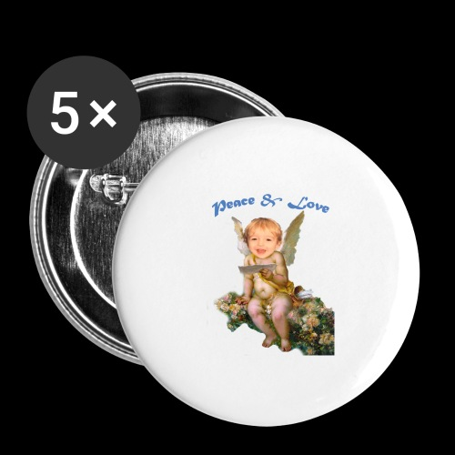 Peace and Love - Buttons large 2.2'' (5-pack)
