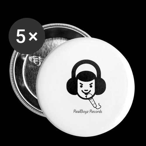 RealBoyz Records - Buttons large 2.2'' (5-pack)