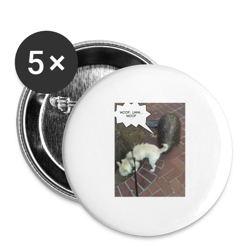 Naughty lil beaver - Buttons large 2.2'' (5-pack)