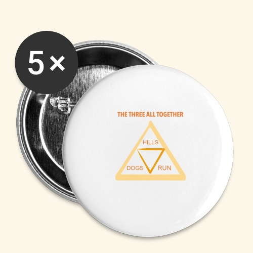 Run4Dogs Triangle - Buttons large 2.2'' (5-pack)