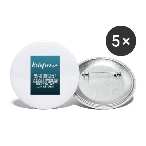 Ketofornia - Buttons large 2.2'' (5-pack)