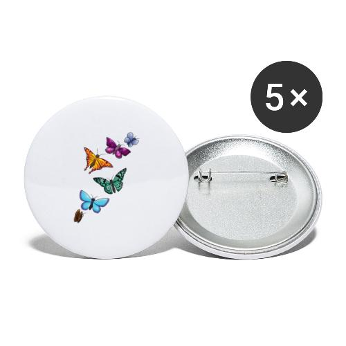 butterfly tattoo designs - Buttons large 2.2'' (5-pack)
