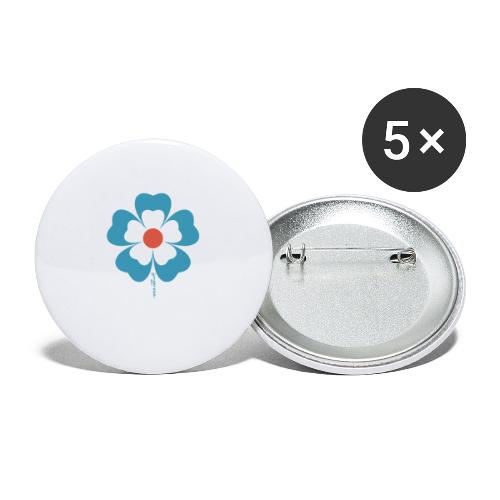 flower time - Buttons large 2.2'' (5-pack)