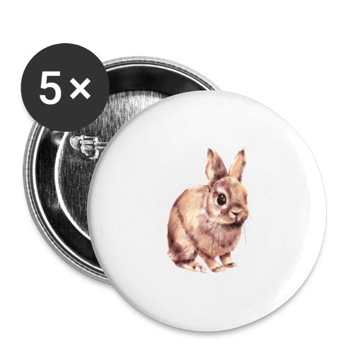 Rabbit - Buttons large 2.2'' (5-pack)
