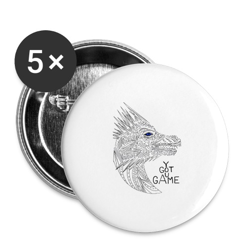 Blue eye dragon - Buttons large 2.2'' (5-pack)