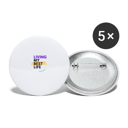 living my best life - Buttons large 2.2'' (5-pack)