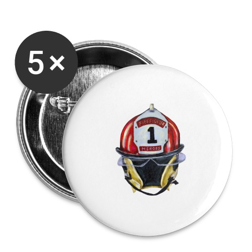 Firefighter - Buttons large 2.2'' (5-pack)