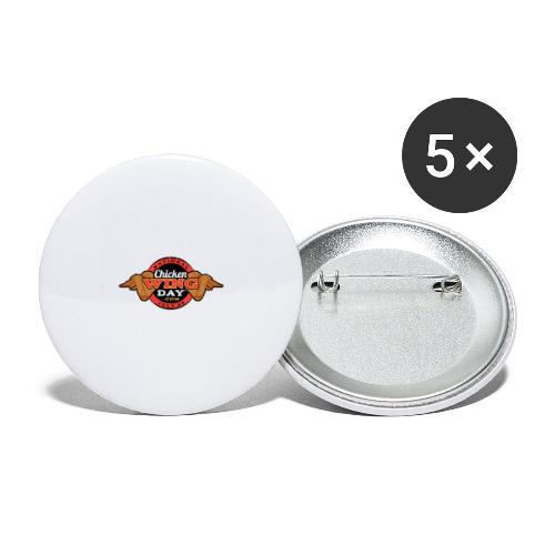 Chicken Wing Day - Buttons large 2.2'' (5-pack)