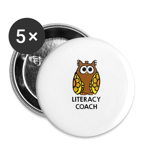 literacy coach png - Buttons large 2.2'' (5-pack)
