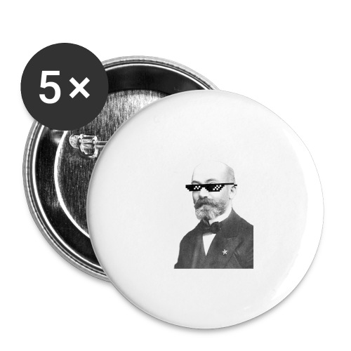 Zamenhof Shades (BW) - Buttons large 2.2'' (5-pack)