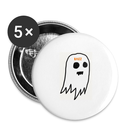 6103AF2D B35F 4421 918A 40CD92469E24 ghost baez - Buttons large 2.2'' (5-pack)