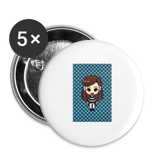 Kids t shirt - Buttons large 2.2'' (5-pack)