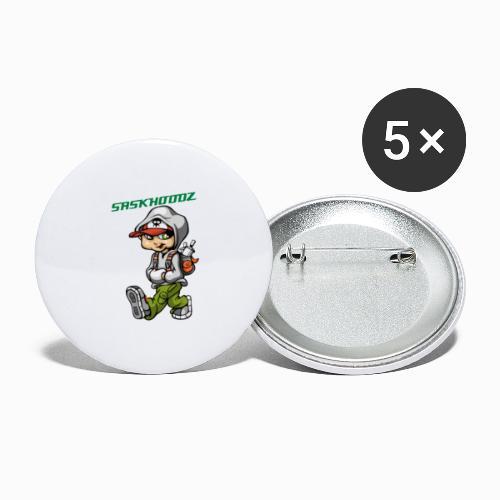saskhoodz paint - Buttons large 2.2'' (5-pack)