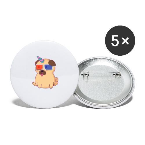 Dog with 3D glasses doing Vision Therapy! - Buttons large 2.2'' (5-pack)