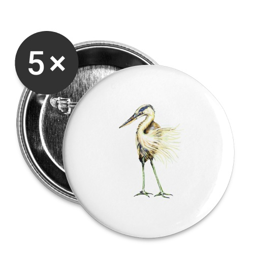 Great Blue Heron - Buttons large 2.2'' (5-pack)