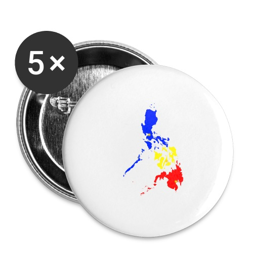 Philippines map art - Buttons large 2.2'' (5-pack)