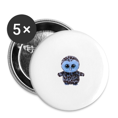 blue_hootie - Buttons large 2.2'' (5-pack)