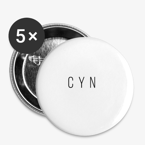 Cyn Classic Text - Buttons large 2.2'' (5-pack)
