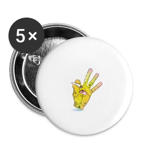 Khalwi High Khamsa - Buttons large 2.2'' (5-pack)