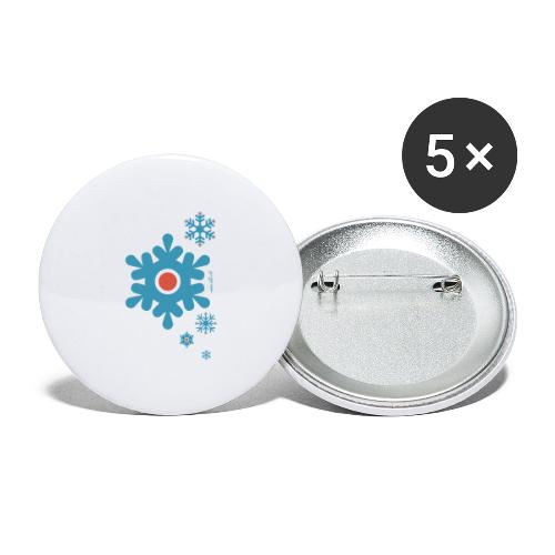 Peri Christmas - Buttons large 2.2'' (5-pack)