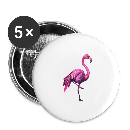 pink flamingo - Buttons large 2.2'' (5-pack)