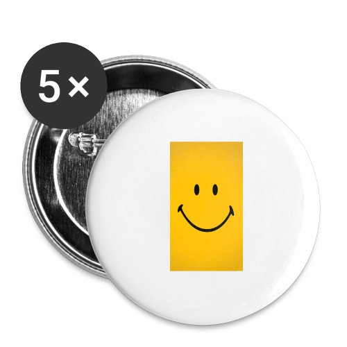 Smiley face - Buttons large 2.2'' (5-pack)