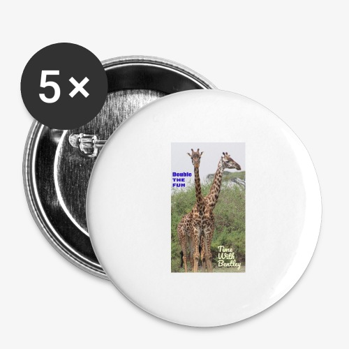 Two Headed Giraffe - Buttons large 2.2'' (5-pack)