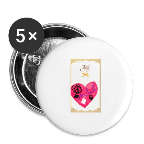 Heart of Economy 1 - Buttons large 2.2'' (5-pack)