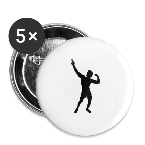 Zyzz Silhouette vector - Buttons large 2.2'' (5-pack)