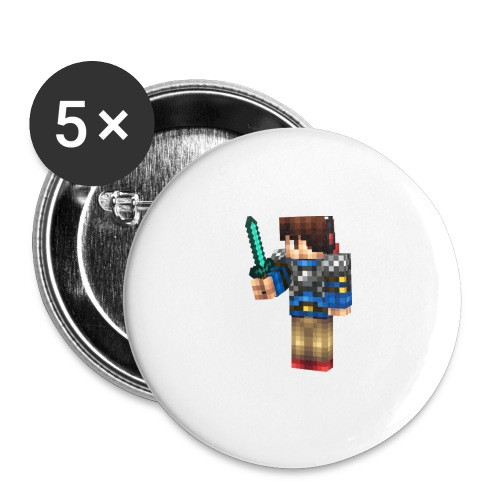 TJtheDJ Diamond Sword Design SMALL - Buttons large 2.2'' (5-pack)