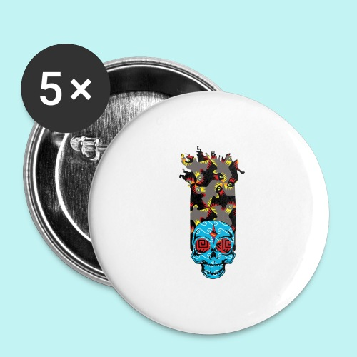 90s KID SKULLY - Buttons large 2.2'' (5-pack)