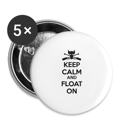 Keep Calm and Float On - Boating Shirt - Buttons large 2.2'' (5-pack)