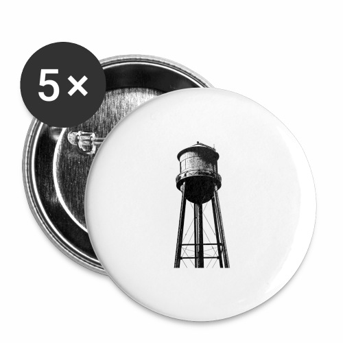 Water Tower - Buttons large 2.2'' (5-pack)