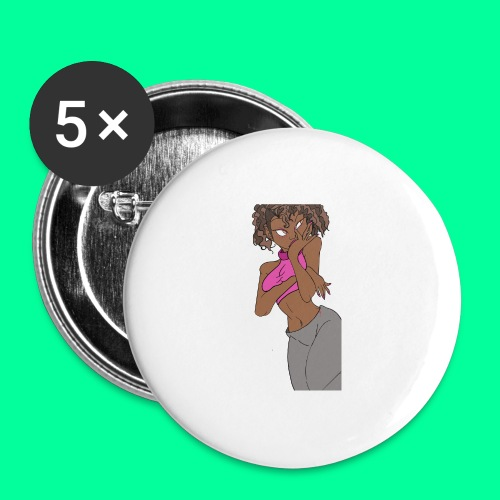 Wakandan Pink - Buttons large 2.2'' (5-pack)