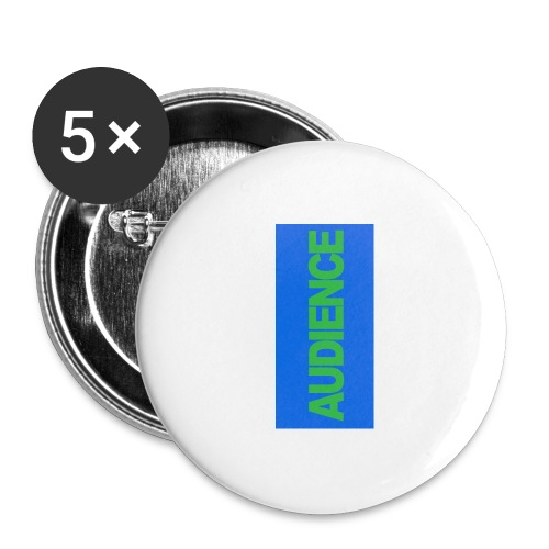 audiencegreen5 - Buttons large 2.2'' (5-pack)