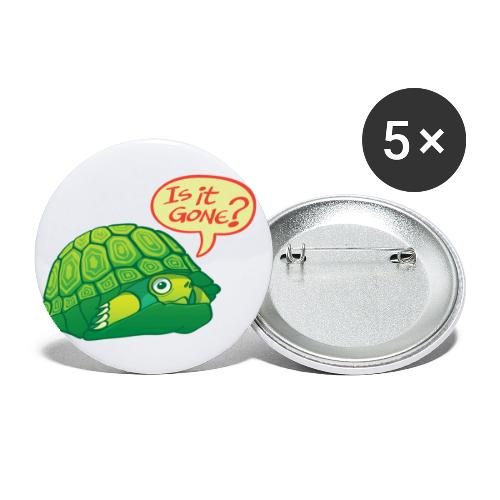 Turtle asking if it's good time to go out of shell - Buttons large 2.2'' (5-pack)