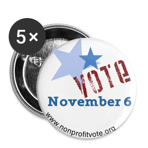 npvote 2 noline - Buttons large 2.2'' (5-pack)