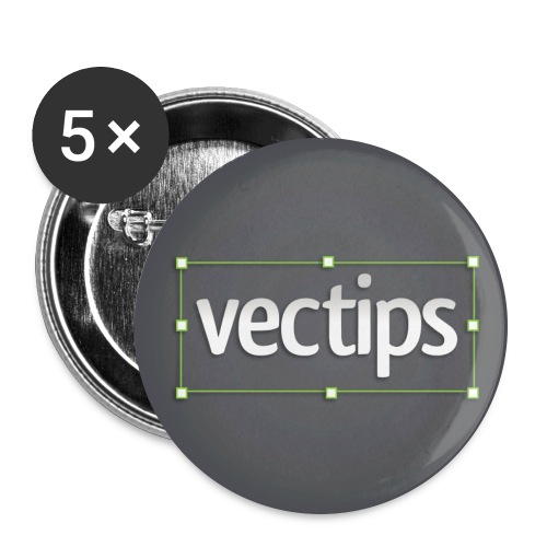 vectips logo c - Buttons large 2.2'' (5-pack)
