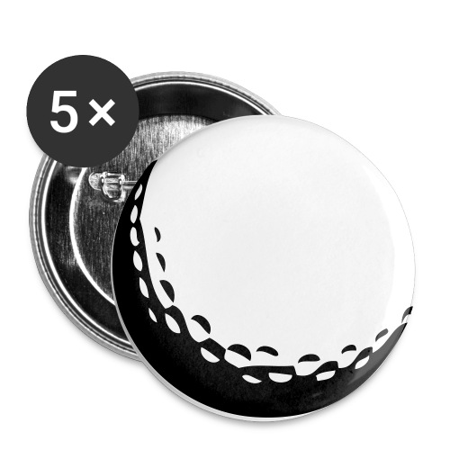 golf ball - Buttons large 2.2'' (5-pack)