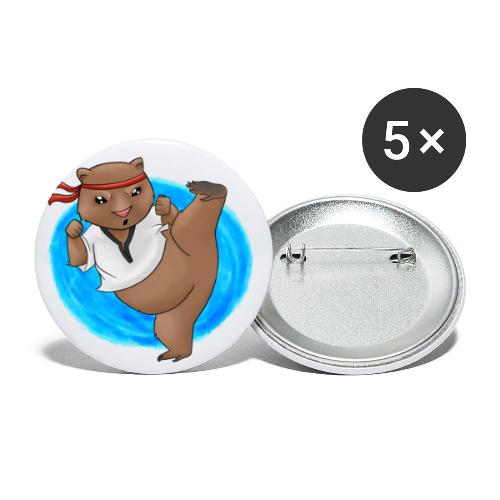Wombat in Action - Buttons large 2.2'' (5-pack)
