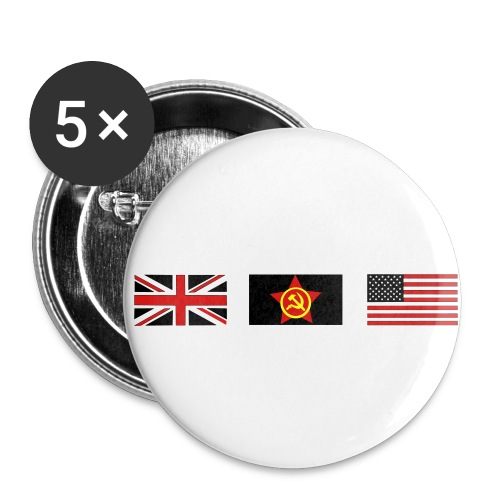 3 ALLIES flags - Buttons large 2.2'' (5-pack)