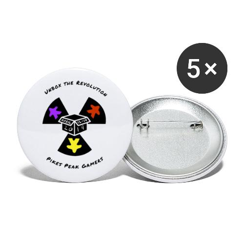 Pikes Peak Gamers Convention 2019 - Accessories - Buttons large 2.2'' (5-pack)